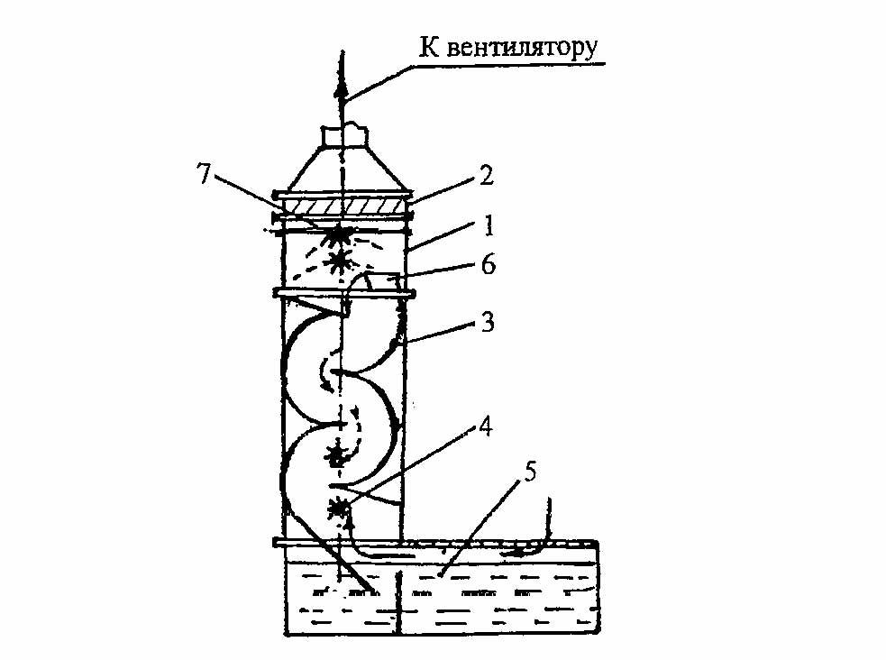 """Схема установки для очистки воздуха  """"ЭКО-ВЕСТА """" ."""